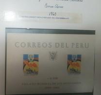Rt O) 1960 PERU, PERV - WRY EMBLEM - DOVE RAINBOW AND FARMER WORLD REFUGEE YEAR - SCT C163 -SCT C164, SOUVENIR - Peru