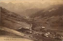 - Haute Savoie -ref-C345- Le Grand Bornand - La Vallée Du Bouchet - Contre Jour - Carte Bon Etat - - Otros Municipios