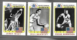 X595 - IMAGES GREATEST OLYMPIANS - BASKET BALL - BILL BRADLEY - JERRY WEST - OSCAR ROBERTSON - Trading Cards
