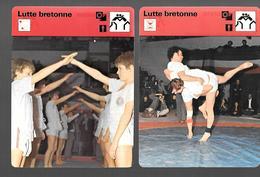 GF309 - FICHES EDITIONS RENCONTRE - LUTTE BRETONNE AR GOUREN - LUTTE SUISSE - LUTTE TURQUE KIRKPINAR - Lutte (Wrestling)