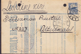 Estonia Lahtine Kiri TARTU 1921 On Halfed Russian? Freight Bill (2 Scans) - Estonia