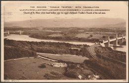 Menai Straits, Llanfairpwllgwyngyll, Anglesey, 1935 - Photochrom Postcard - Anglesey