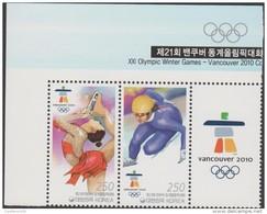 RO) 2010 KOREA, XXI OLYMPIC GAMES - VANCOUVER 2010, SPORTS ON SKATES, SET MNH- (V-2015) - Korea (...-1945)