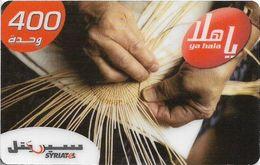 Syria - Syriatel - Handmade Art - Basketry, Exp. 31.12.2009, Prepaid 400U, Used - Syria
