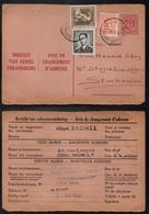 BRUXELLES / 1958 AVIS DE CHANGEMENT D'ADRESSE POUR LA SUEDE (ref 3213) - Entiers Postaux