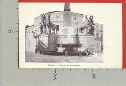 CARTOLINA NV ITALIA - ROMA - Colossi Del Quirinale - 9 X 14 - Roma (Rome)