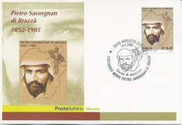 ITALIA - FDC MAXIMUM CARD 2005 - PIETRO SAVORGNAN DI BRAZZA - ANNULLO SPECIALE MORUZZO - Maximumkarten (MC)