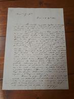 1832 (?) LETTERA AUTOGRAFO PATRIOTA PIETRO FERRETTI - ANCONA RISORGIMENTO - Autografi