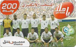 Syria - Syriatel - Football Teams Wrold Cup 2006 - England, Exp. 31.12.2009, Prepaid 200U, Used - Syria