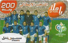 Syria - Syriatel - Football Teams Wrold Cup 2006 - Italy, Exp. 31.12.2009, Prepaid 200U, Used - Syria