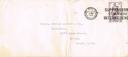 32819. Carta BAILE ATHA CLIATH, Dublin (Eire) 1956. Slogan RADIO Interference - 1949-... República Irlandése