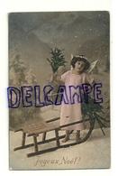 Photographie Montage. Petit Ange Dans La Neige. Luge, ... 1912. Lepogravure - Non Classés