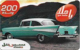 Syria - Syriatel - Cars - 1962 Buick, Exp. 31.12.2008, Prepaid 200U, Used - Siria