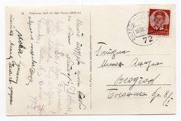 1938 YUGOSLAVIA, SLOVENIA, PODKOREN, TPO RATECE-LJUBLJANA NO 72, ILLUSTRATED POSTCARD,  USED - Yugoslavia