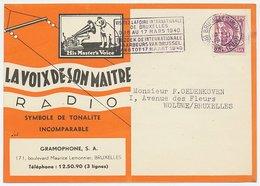 Illustrated Postcard Belgium 1940 His Masters Voice - Dog - Gramophone - Record - Radio - Music