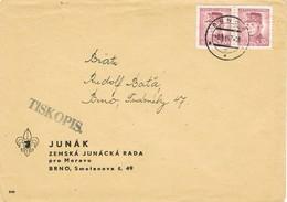32820. Carta BRNO (Checoslovaquia) 1947.  TISKOPIS, Impresos. Consejo Condado - Checoslovaquia