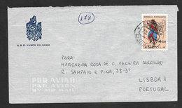Angola Portugal Lettre Cachet Cabinda 1965 Navire Marine De Guerre NRP Vasco Da Gama Navy Cover - Angola