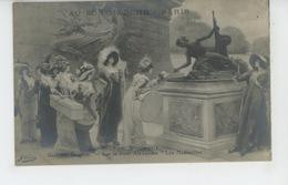 """FEMMES - TABLEAUX - SALON DES ARTISTES FRANÇAIS 1912 - """"Sur Le Pont Alexandre , Les Midinettes """" Par GEORGES CLAIRIN - Women"""