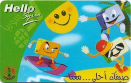 Syria - STE - Hello Syria - Water Skiing, Prepaid 200S.P, Used - Siria