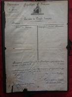 Capitaine Armée De France 1804 Brevet Pour Capitaine Castillon Brigade De Ligne - Documenti
