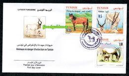 2019- Tunisia - Animals In Danger Of Extinction In Tunisia- Fauna- FDC - Briefmarken