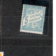 ANDORRA(French)1938-41:Yvert TT 17mh* - Neufs