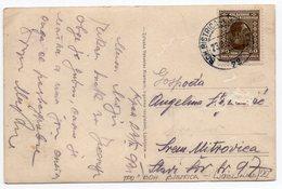 1931 YUGOSLAVIA, SLOVENIA, KRANJ, TPO BOH. BISTRICA-LJUBLJANA NO 72, ILLUSTRATED POSTCARD,  USED - Yugoslavia