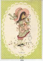 Petite Fille Et Marguerite. Chapeau Et Tablier. Miss Petticoat. - Scènes & Paysages