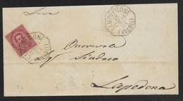 COLLETTORIE RURALI MARCHE - DA CAMPOFILONE A LAPEDONA - 18.1.1891. - 1878-00 Umberto I
