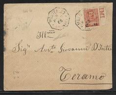 COLLETTORIE RURALI MARCHE - DA MONTEFANO A TERAMO - 8.2.1906. - Marcophilia
