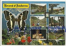 Record D'Andorra. Carte Mosaïque Et Papillon 1979. Cedosa - Andorre