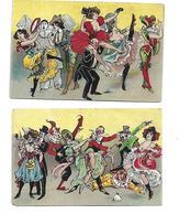 Moulin Rouge Folies Bergère Casino De Paris Illustrateur Artistes Cirque - Illustrateurs & Photographes