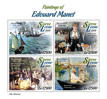SIERRA LEONE 2019 - Edouard Manet. Official Issue. - Impressionisme