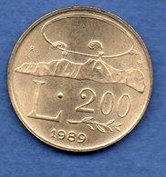 San Marin  -  200 Lires 1989  -  Km # 238  - état  SUP - Saint-Marin