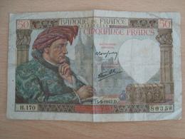BILLET DE 50 FRANCS 15 MAI 1942 JACQUES COEUR - 1871-1952 Anciens Francs Circulés Au XXème