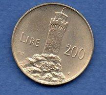 San Marin  -  200 Lires 1988  -  Km # 225  - état  SUP - Saint-Marin