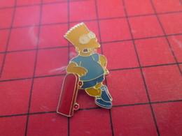 813g Pin's Pins / Beau Et Rare / THEME : CINEMA / DESSIN ANIME LES SIMPSONS BART SIMPSON SKATE-BOARD - Cinéma