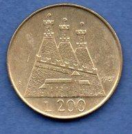 San Marin  -  200 Lires 1987  -  Km # 208 - état  SUP - Saint-Marin