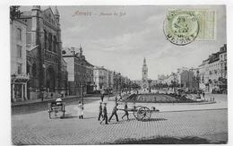 (RECTO / VERSO) ANVERS EN 1906 - AVENUE DU SUD AVEC PERSONNAGES ET CHARETTE - BEAU TIMBRE ET CACHET - CPA VOYAGEE - Antwerpen