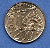 San Marin  -  200 Lires 1992  -  Km # 285 - état  SUP - Saint-Marin