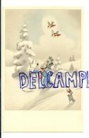 Petite Fille à Ski, Paysage Enneigé, Rouges-gorges. Coloprint Spécial 4558 - Non Classés