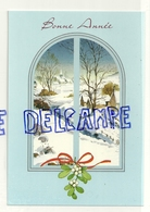 Bonne Année. Paysage Enneigé Vu à Travers Une Fenêtre. SPABO - Anges