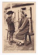 85 Costumes Maraichins N°21 O Té Bé Vu Dansaïe Avec Tio Galant Postée à St Jean De Monts En 1939 Folklore Enfants Coiffe - Saint Jean De Monts