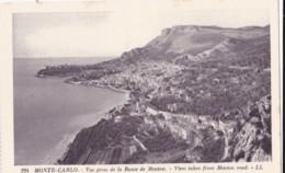 AO73 Monte Carlo, Vue Prise De La Route De Menton - LL Postcard - Monte-Carlo