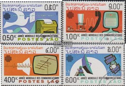Laos 694-697 (complete Issue) Fine Used / Cancelled 1983 World Communication Year - Laos