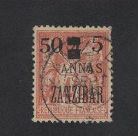 Faux Timbre Zanzibar N° 60 50 C Et 5 Sur 4 Annas Sur 40 C Sage Oblitéré - Zanzibar (1894-1904)