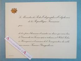 1937 Carton Vierge D'invitation Diner Hôtel Boka à Hercegnovi Inauguration Câble Sous-marin France Yougoslavie Ministre - Documents Historiques