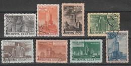 URSS - Usati - Propaganda Per La Costruzione Di 8 Grattacieli A Mosca. . Cat. Unificato N. 1510/17 - Oblitérés