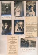 LOT VAN FOTO'S OP PAPIER GEPLAK  1935  - SCHOOL VOOR DOVEN EN SLECHTHORENDE - 2 SCANS - Maaseik