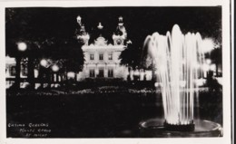 AP47 Casino Gardens, Monte Carlo, At Night - RPPC - Casino